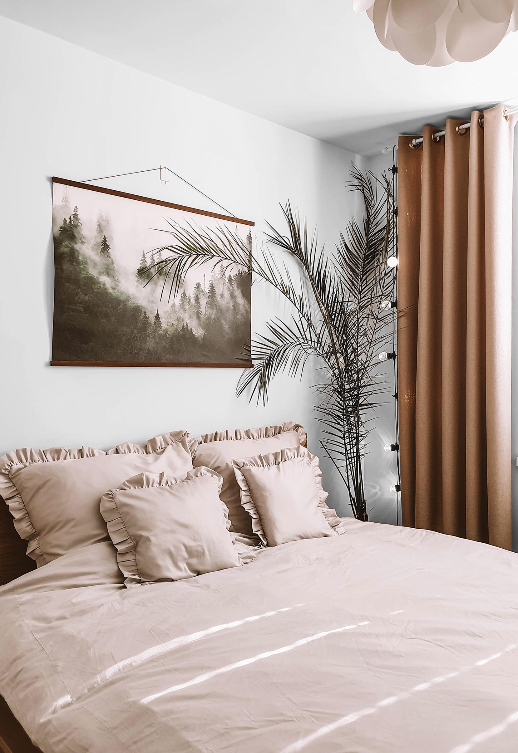 zaslona na kołach w sypialni nasze domowe pielesze